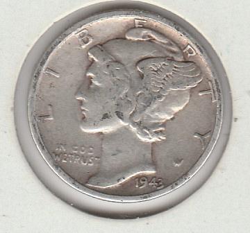 1941 S Mercury Dimes