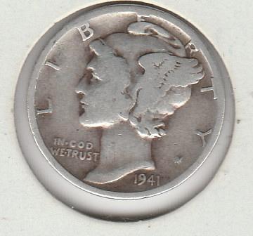 1941 D Mercury Dimes -#1