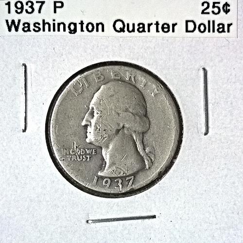 1937 P Washington Quarter Dollar - 6 Photos!