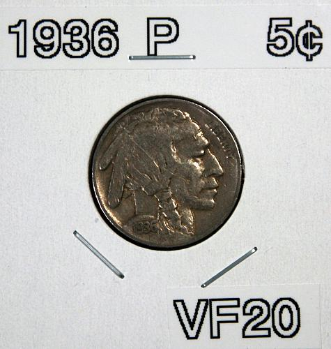 1936 P Buffalo Nickel