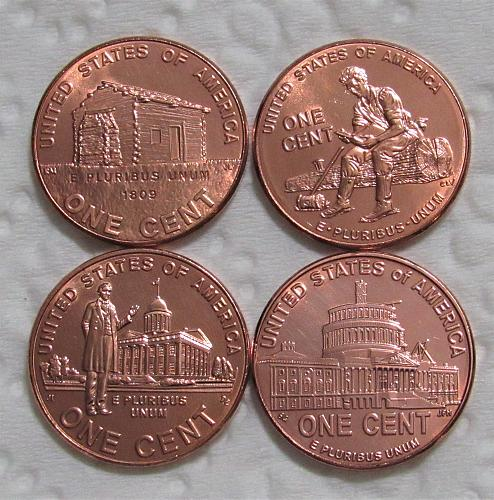 2009-D 1 Cent - Lincoln Memorial Cent (4 Coin Set) Uncirculated