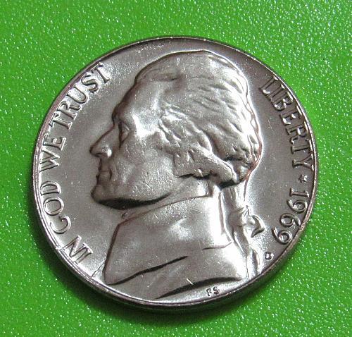 1969-D 5 Cents - Jefferson Nickel