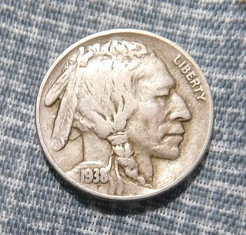 1938 D Buffalo/Indian Head Nickel