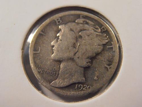 1920 D Mercury Silver Dime (20DM1)