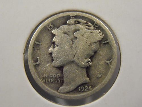 1924 P Mercury Silver Dime (24PM1)