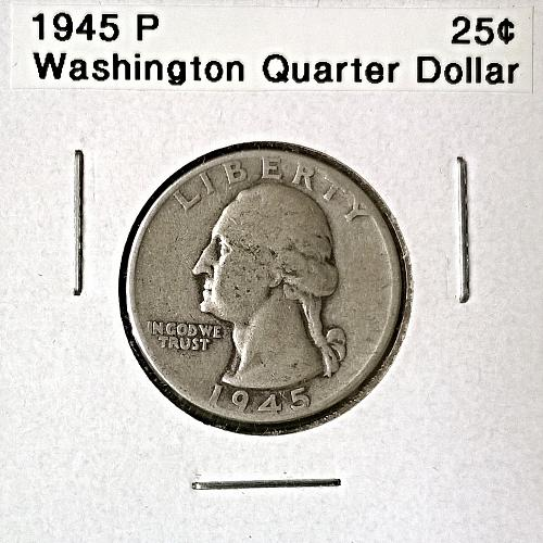 1945 P Washington Quarter Dollar - 6 Photos!