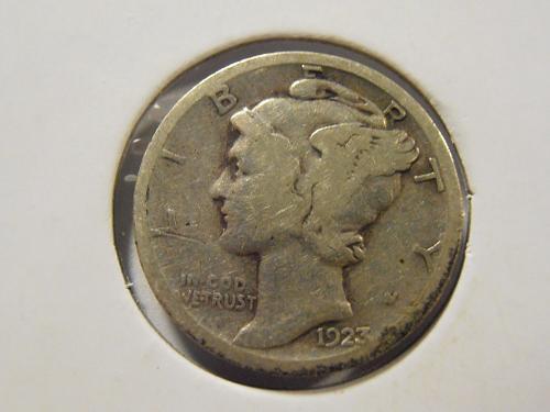 1923 S Mercury Silver Dime (23SM1)