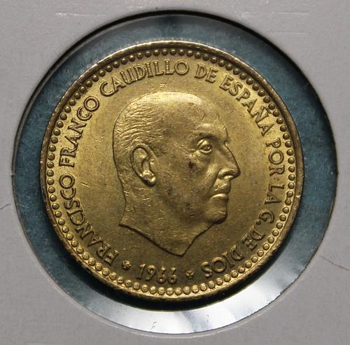 Spain 1966 1 Peseta (1970)