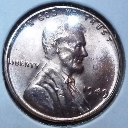 1949-P Gem BU RED Lincoln Wheat Cent (4009 )