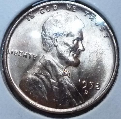1952-D Gem BU RED Lincoln Wheat Cent (4001 )