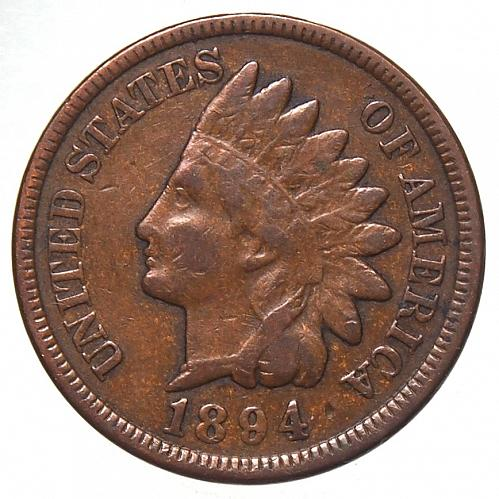 1894 P Indian Head Cent #26