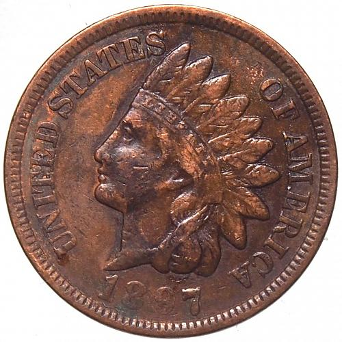 1897 P Indian Head Cent #19