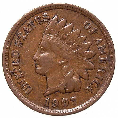 1907 Indian Head Cent #36