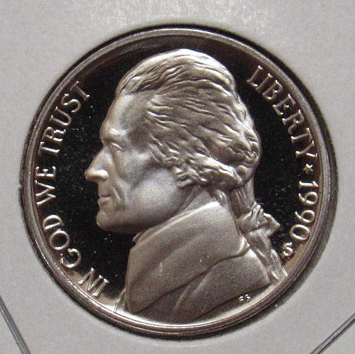 1990 S Proof Jefferson Nickel