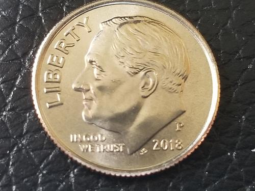 2018 P Roosevelt Dime - Direct from Mint Roll
