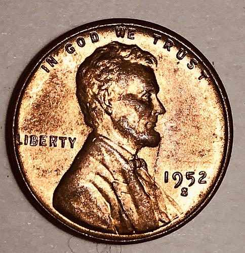 1952-S (Red/brown) Lincoln Wheat Cent