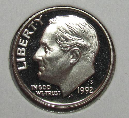 1992 S Proof Roosevelt Dime