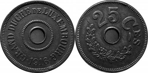 Luxembourg 1916 25 Centimes      0102