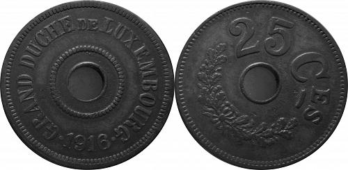 Luxembourg 1916 25 Centimes      0103