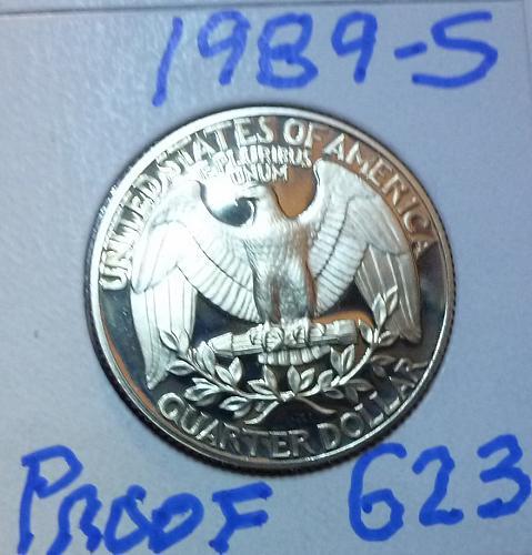 1989-S PROOF Washington Quarter ( 622 )