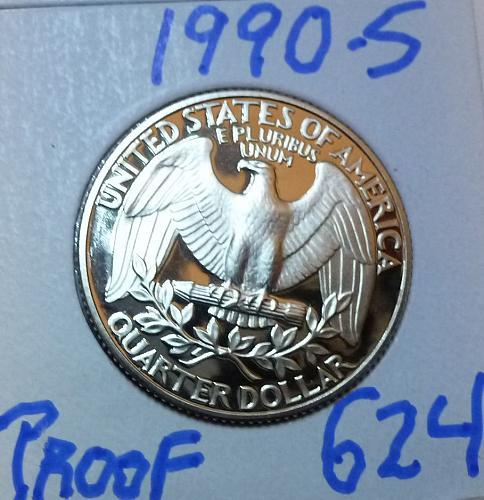 1990-S PROOF Washington Quarter ( 624 )