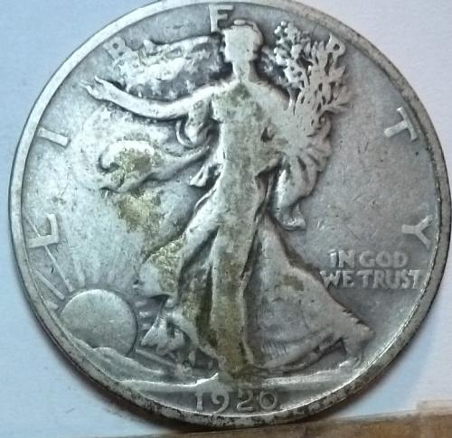 1920-D Fine Walking Liberty Half Dollar  ( 126)
