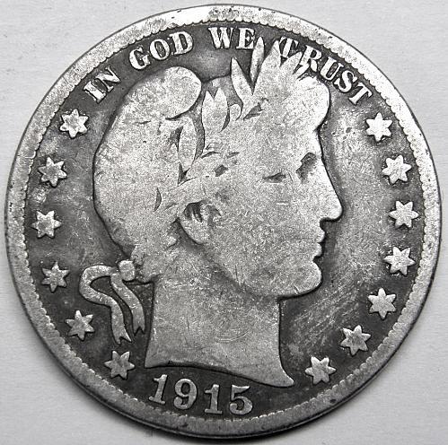 1915 S Barber Half Dollar #1
