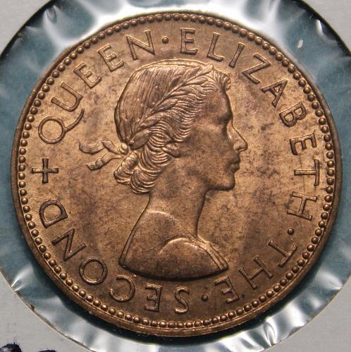 New Zealand 1962 1/2 penny