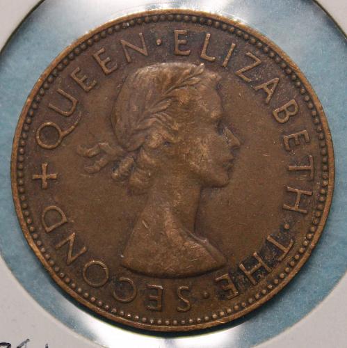 New Zealand 1953 1 penny