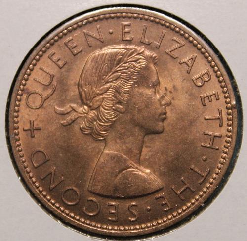 New Zealand 1962 1 penny