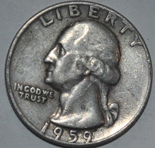1959 P Washington Quarters