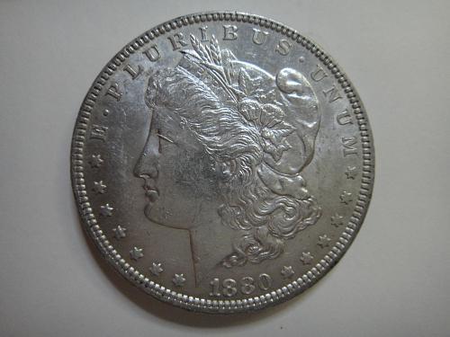 1880-O Morgan Dollar MS-62 (BU)