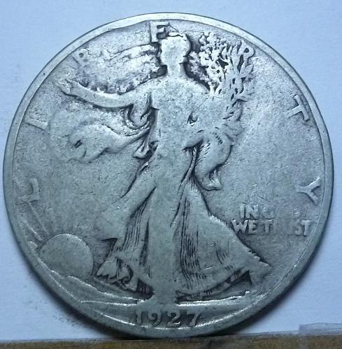 1927-S Very Good Walking Liberty Half Dollar  ( 132)