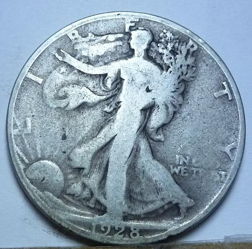1928-S Good Walking Liberty Half Dollar  ( 133)
