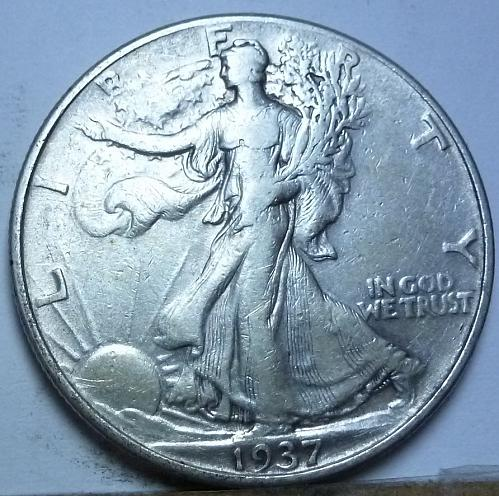 1937-P Extra Fine Walking Liberty Half Dollar  ( 146)