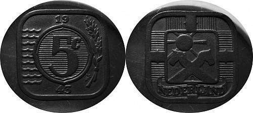 Netherlands 1943 5 Cents 0105