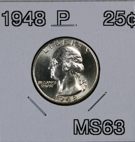 1948 P Washington Quarter