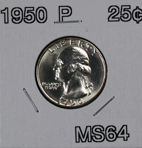 1950 P Washington Quarter