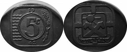 Netherlands  1942 5 Cent       0199