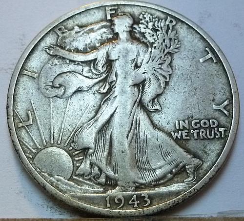 1943-S Walking Liberty Half Dollar in Extra Fine Grade ( 164 )