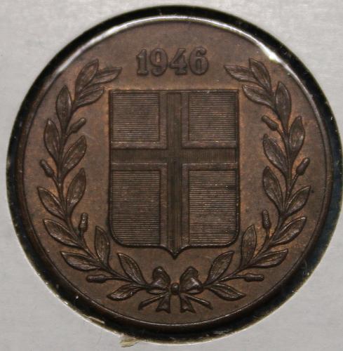 Iceland 1946 5 aurar