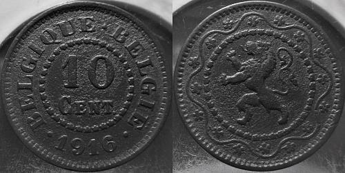Belgium 1916 10 Centimes       0225