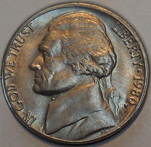 1980-P Jefferson Nickel