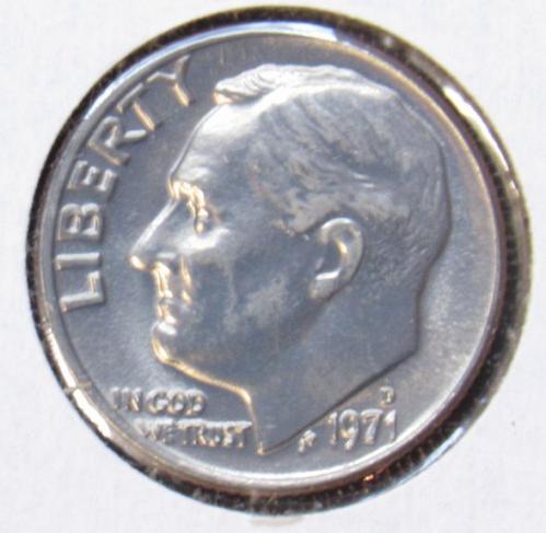 1971 D & 1971 P Roosevelt Dimes