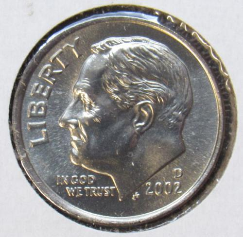 2002 D & 2002 P Roosevelt Dimes from Proof sets