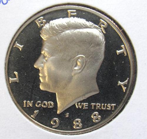1988 S Kennedy Half Dollar