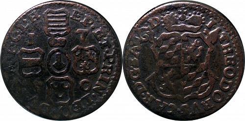 Prince-Bishopric Liege (Belgium) 1 Liard 1750 Variant 0287