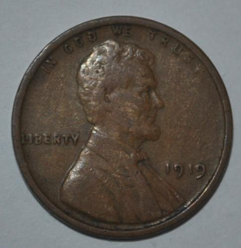 1919 P Lincoln Wheat Cent Small Cent