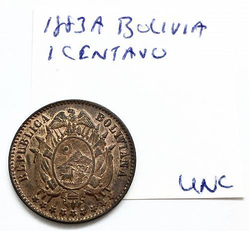 1883 A 1 Centavo - Bolivia
