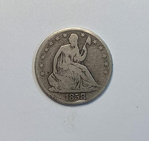 1858 Seated Liberty Half Dollar [SHDL 6]